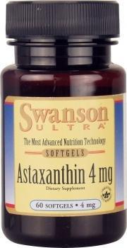 Swanson Ultra Hi Potency Astaxanthin (4mg, 60 Softgels)