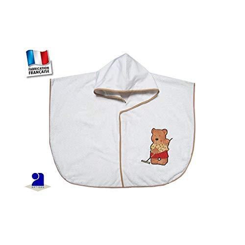 Poussin bleu - Poncho de bain bébé, blanc, ourson jardinier Taille - 0 à d7321e8e786