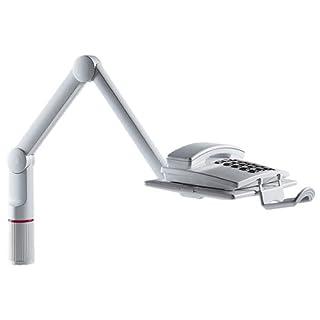 Novus TalkMaster Telefonschwenkarm (mit Telefonablage und 2-gelenkigem Schwenkarm) lichtgrau