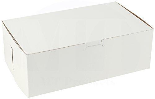 25,4cm Länge x 15,2cm Breite x 31/5,1cm Höhe Tonerde beschichtetes Kraftpapier Karton weiß non-window Lock Ecke Bakery Box by MT Produkte (15Stück)