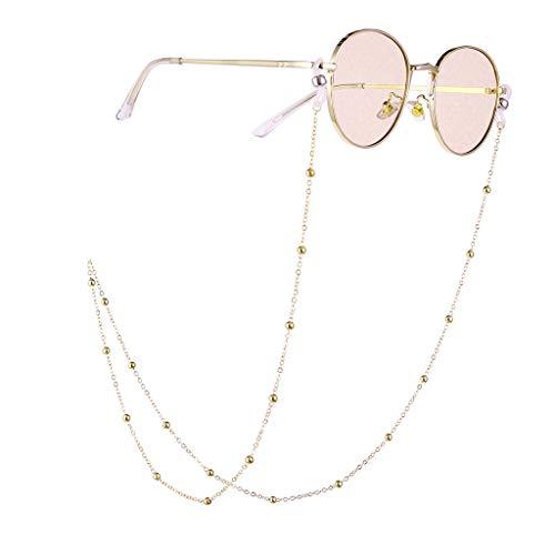 Trisee ✔ Sonnenbrille, Unisex Sonnenbrille Mode Sonnenbrille Retro Brillengläser Gurt Sonnenbrille mit Kette Perlen Schnur Hängende Gläser Runde UV-Schutz Brillen