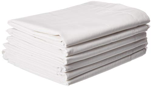 MIMAATEX 6Pack-Hotel/SPA/Massage-Twin flach/Top Sheet-Bright white-180Fadenzahl - Spa Top Sheet
