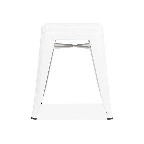 Cult Furniture Xavier Pauchard Tabouret Tolix - Blanc 45cm