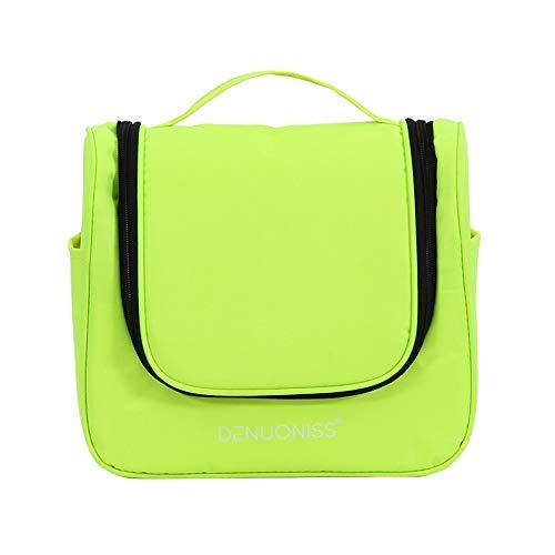 Rotary Haken (JTSYHreisen, die Tasche Rotary Haken waschen Tasche mit multifunktionalen Frauen Kosmetik - Koffer,Hellgrün)
