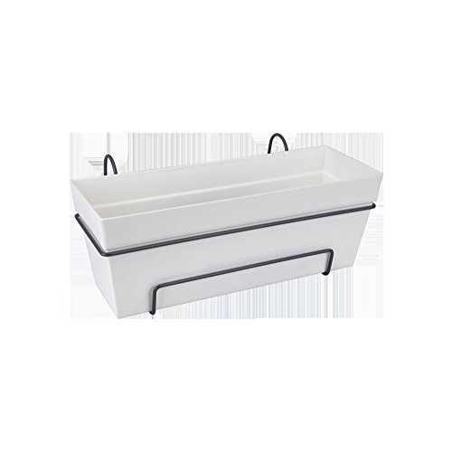 Elho loft urban trough all-in-one balcony planter 50cm - white