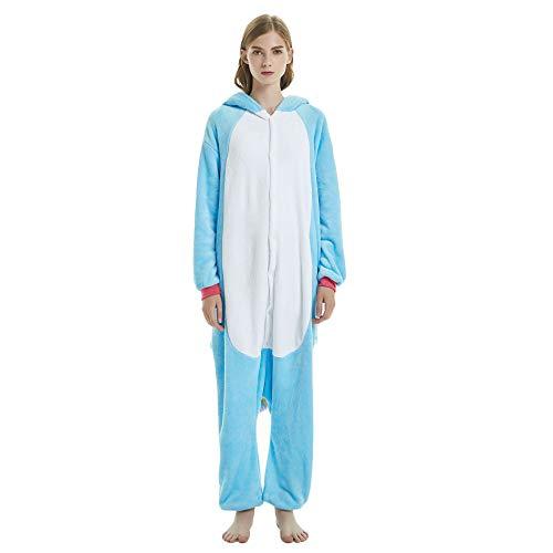 Lady Kostüm Geek - OAMORE Einhorn Pyjamas Tier Nachtwäsche Nachtwäsche Kostüm Cosplay Weihnachten Einhorn Sets (XL, Blau)