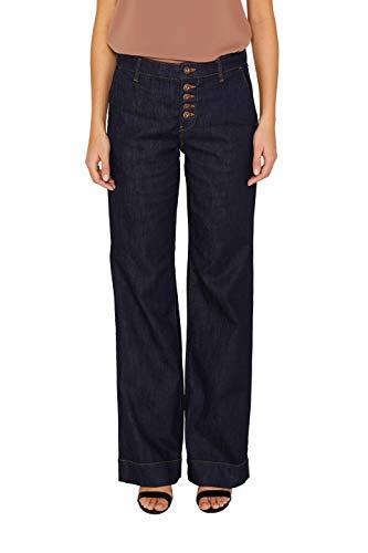 Bootcut Weites Bein Jeans (edc by ESPRIT Damen 039CC1B012 Bootcut Jeans, Blau (Blue Rinse 900), W30/L32 (Herstellergröße: 30/32))