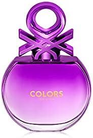 United Colors of Benetton Colours Purple for Her Eau De Toilette, 80ml