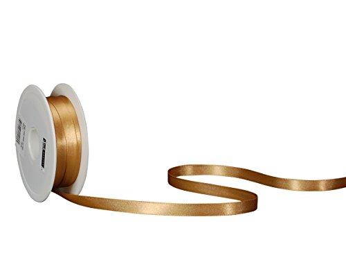 Spyk Bänder 2082.1032.0000-085 Nastro Doppio Raso per Regalo, 10 mm, 25 m, Oro