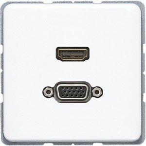 Jung macd1173ww-Platte HDMI/VGA Weiß Alpin -
