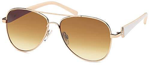 Balinco Damen Pilotenbrille Sonnenbrille mit Stresssteinen & lackierten Bügeln 70er Jahre...