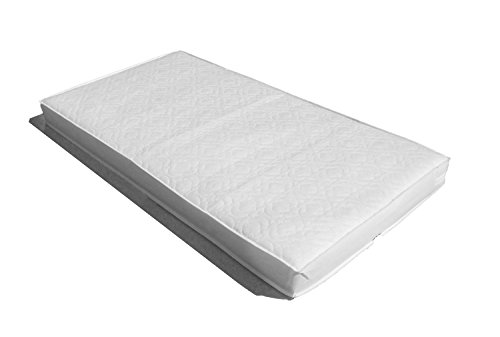 SOPHIE FULLY BOUND With **TAPED EDGED** Superior Sprung Cot Mattress Best For Fitted Sheets 120x60 x 10cm Thick - Will Fit M&P Cots 200 Size As Well As Other Makes : British Made With High Grade Density Foam CMHR28