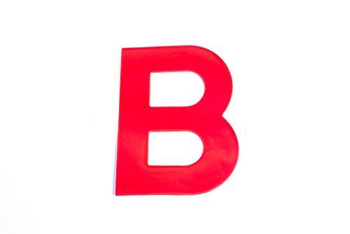 Bulk Hardware bh04972 autocollant haute visibilité réfléchissant Lettre B, 75 mm – Rouge