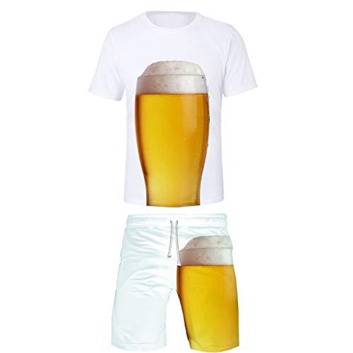 Mann Lampe Ein Bein Kostüm - Setsail Herren Beer Festival Trend Print Freizeitsets Mode Anzug Komfortanzug Einfach Joker Sets Für Festival, Business, Hochzeit, Party
