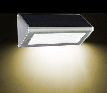 YYHAOGE Super Bright Lampe Solaire, Une Lampe De Rue, Extérieur Lumière Lampe Étanche Contrôlé, Les Cour Lampe À Induction, Ménage,Lampe Murale Aluminium Radar Lumière Chaude