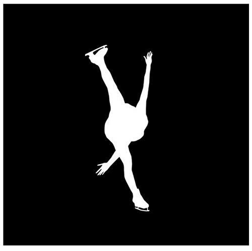 7 * 17 CM Moderne Eiskunstlauf Wintersport Auto Aufkleber Design Eis Tanzen Haltung Auto Aufkleber Decals (5 PS) (Haltung Auto-aufkleber)