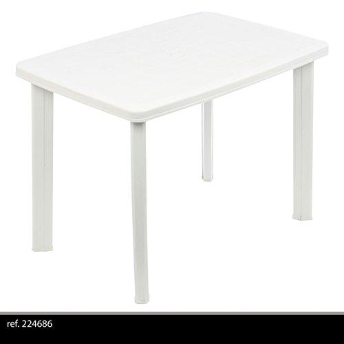 Tavolo Giardino Plastica Bianco.Greemotion 431020 Tavolo Faretto Ovale Giardino Esterno In