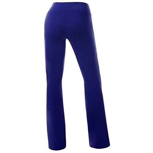 Smile YKK Pantalon de Sport Femme Pantalons Longues Yoga Gym Jogging Sport Casual Confortable Bleu