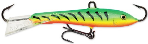 Rapala Jigs Rap 09 Angeln Lure, 3,5, Glow Tiger (Rapala Fishing Ice Jigging)