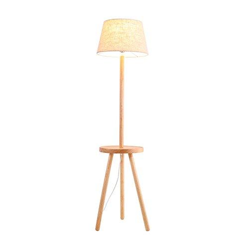 5151BuyWorld Lampe Nordic Floor Moderne Lampe Tisch Eiche Mit Runden Weißen Stoffschirm Sofa Side Bedside Stehleuchte Foyer Wohnzimmer Warme LED Lampe Top Qualität -