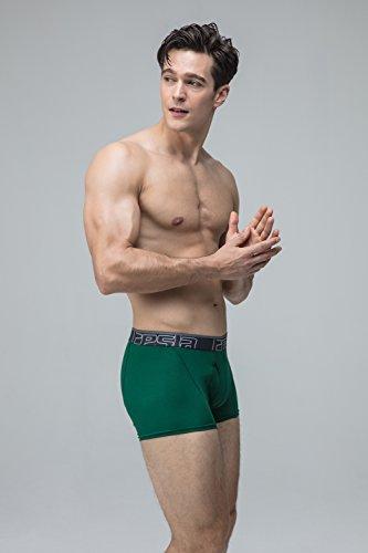Tesla da uomo Cool Dry 7,6cm breve maglia stretch Underwear tronco (2-pack) MBU01 TM-MBU01-GNG