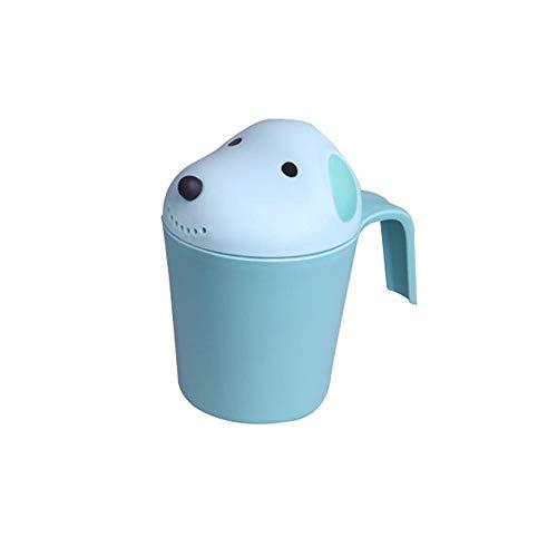 Markc Kinderbad Shampoo Cup 1-4 Jahre Kinder Badegewässer Spielzeug Shui Wasser Dusche Kinder Badegewässer Scoop Kleine Gießkanne Happy Underwater Story Spray Badewanne (Color : Blau) -