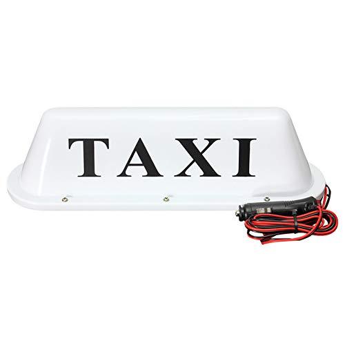 Voiture Top Taxi Light New Toit Taxi signer 12 V avec base magnétique Blanc Couleur de la lumière