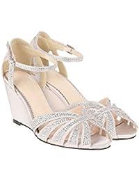 Monsoon Chaussures à talon compensé ornées de strass scintillant Nikita - Femme