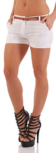 malito Damen Chino Shorts in Unifarben | lässige kurze Hose | Bermuda für den Strand | Pants