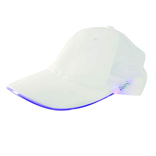 Fcostume Sonnenhut, LED beleuchtet Hut Glow Club Party Baseball Hip Hop verstellbare (Glow Stick Outfit)