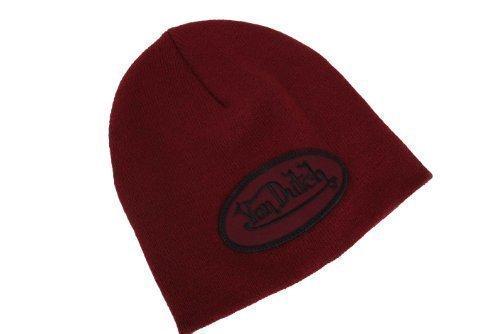 von-dutch-bonnet-chapeau-tricote-taille-uniforme-rouge-vin