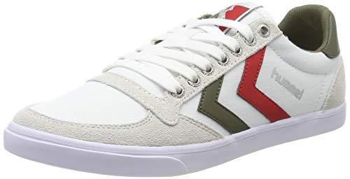 hummel Unisex-Erwachsene Slimmer Stadil Low Sneaker, Weiß (White/Green 9208), 44 EU