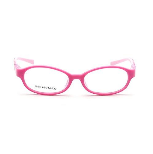 Sakuldes Art- Und Weisekindersilikon-Glas-Rahmen-Nicht Verordnung-Gläser for Kind (Color : Pink)