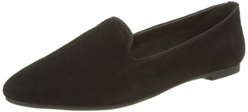 Buffalo London Damen 216-3335 Kid Suede Geschlossene Ballerinas, Schwarz (Black 258), 39 EU