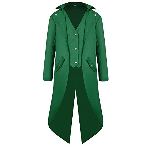iYmitz Damen Herren Mantel Frack Jacke Gothic Gehrock Uniform Kostüm Praty - Herren Baseball Uniform Kostüm