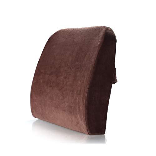 HAIYING Lordosenstütze Kissen Rückenkissen Office Home Gaming Memory Foam Kissen Erleichtert Couch Sofa Lesen Niedrigere Ischias Schmerzen (Farbe : Brown) (Memory-foam-kissen Für Couch)