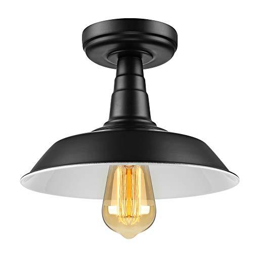 BAYCHEER Plafonnier Lampe de plafond Abat-jour Bol Métal Ceiling Light Eclairage Decoratif