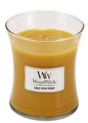 WOODWICK SCENTED CANDLE GOLD SPUN SUGAR 10OZ