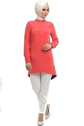 Hijab tunique corail collection fashion-anastasia hijab