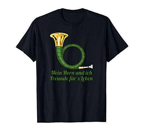 Jagd Jagdhorn Musiker Jäger Geschenk T-Shirt