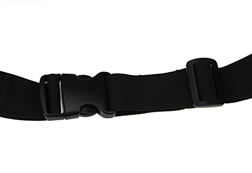 BXT Außen Universelle leichte wasserdichte elastisches Gewebe Taille verpackt Gurt für Handy (Zwei Taschen) Schwarz