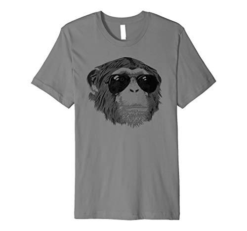 Funny Chimp mit Sonnenbrille Schimpanse Affe T-Shirt