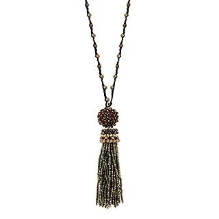 Sweet Deluxe Kette Aina, Coffee/grau/Silber I Elegante Halskette für Damen, Frauen & Mädchen I Halsband Modeschmuck I Designer Necklace