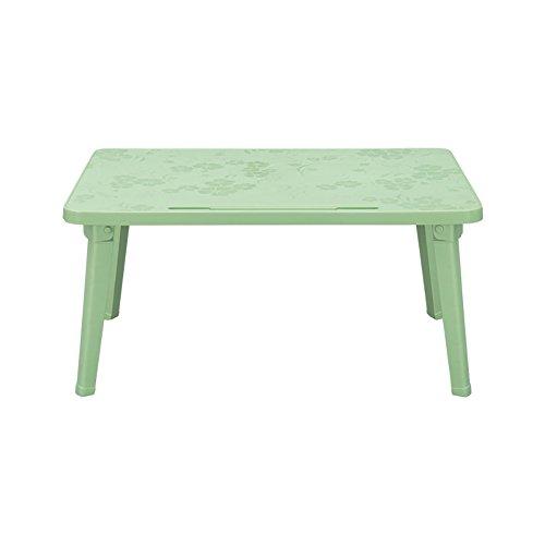 QIN PING GUO Maison Petite Table Pliante en Plastique 4 Pieds Portable extérieur carré Pliant Cuisine et Table à Manger Pique-Nique Pique-Nique (Taille : Green)