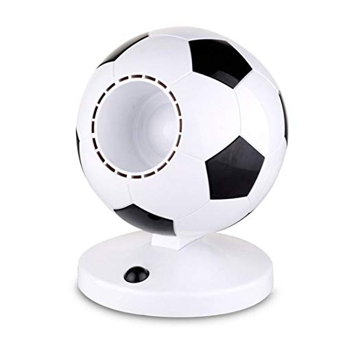 Belle Maison Blattloser Lüfter ABS-Material Kreative Weltmeisterschaft Fußball-Stil USB Mini Student Nachttisch Stummschaltung Energiespargeschenk 16 * 21cm