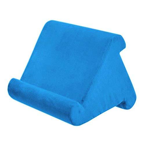 WYFC Flippy Multi-Angle Soft Pillow Lap Stand Mobile Halterung für iPads, Tablets, E-Reader, Smartphones, Bücher und Zeitschriften,Blue