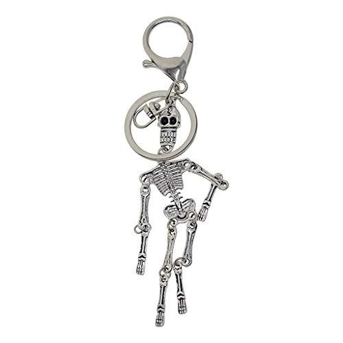 Homyl Halloween Skelett Körper Schlüsselanhänger Telefon Geldbörse Kristall -