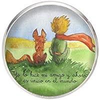 Broche de Acero, Diametro 25mm, pin 0,7mm, Hecho a Mano Ilustración El principito 2
