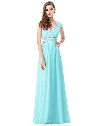 Ever Pretty Robe de Soiree Robe de ceremonie Maxi Elegante Col V 08697 Vert Mousse