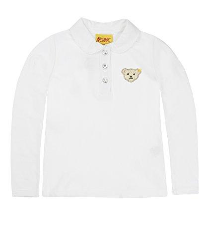 Steiff Baby - Mädchen Poloshirt 0006893 Polo Shirt 1/1 Sleeves, Bright White, 98